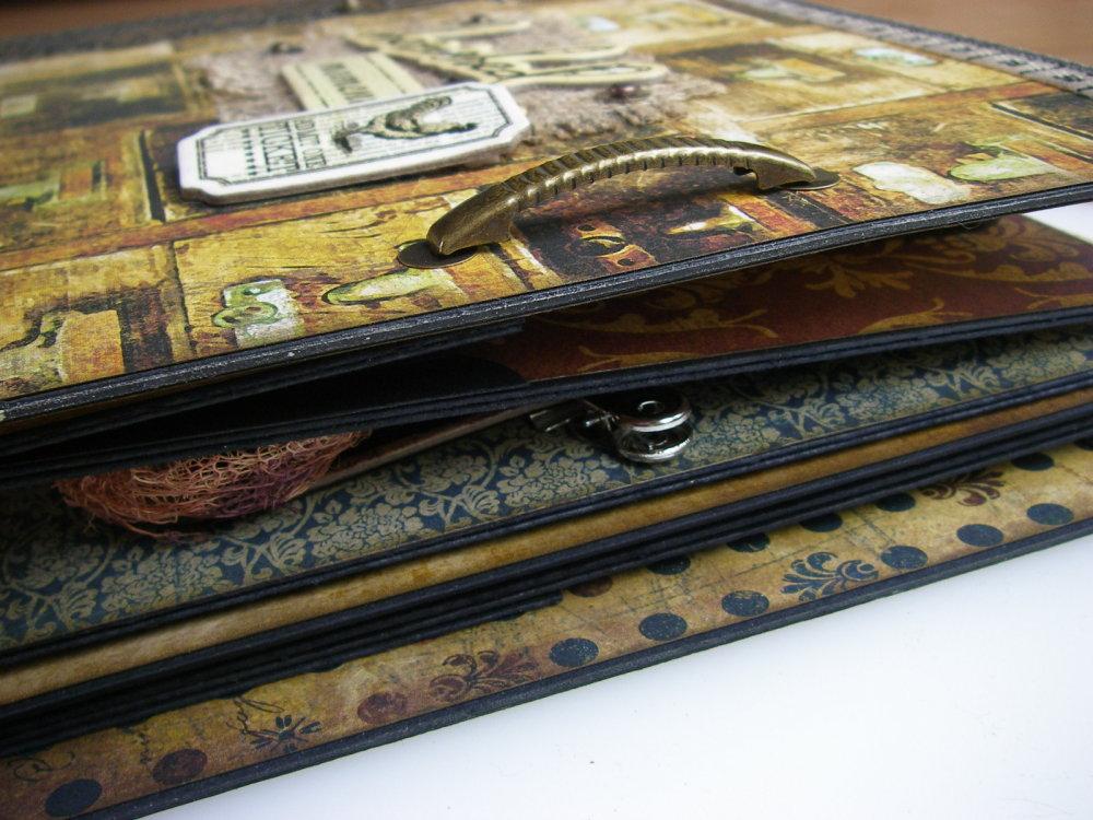 *cherished moments* OOAK Handmade Male Scrapbook Photo Memory Album