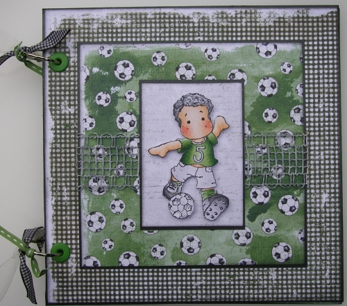 *irish footballer* OOAK Handmade Football Scrapbook Photo Memory Album