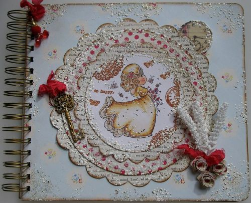 *so happy.* OOAK Handmade Luxurious Vintage Wedding Scrapbook Memory Album