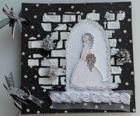 *bride in arched doorway* OOAK Handmade Wedding Scrapbook Photo Album