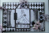 *enchanted love* OOAK Handmade A4 Vintage Wedding/Anniversary Photo Album