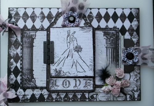*enchanted love* OOAK Handmade A4 Vintage Wedding/Anniversary Photo Album