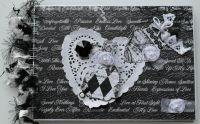 *wedding congrats* OOAK Handmade Black & White Wedding Scrapbook Photo Album