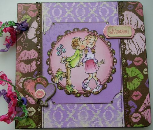 *sMoochable* OOAK Handmade Anniversary/Valentine Scrapbook Photo Album