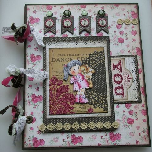 *cute teddy* OOAK Handmade Scrapbook Photo Memory Album
