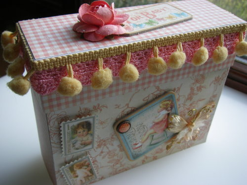 *rock-a-bye baby* OOAK Handmade Baby Girl Scrapbook Book in a Box