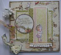 *every child begins the world again* OOAK Handmade Baby Girl Scrapbook Photo Memory Album