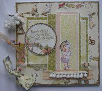 *every child begins the world again* OOAK Handmade Baby Girl Scrapbook Photo Memory Album