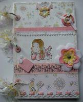 *fragile delight* OOAK Handmade Baby Girl Scrapbook Photo Album