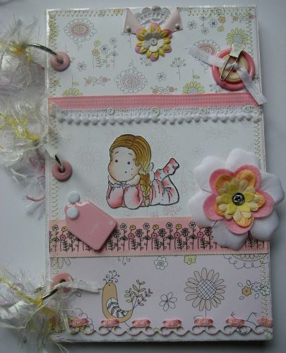 *fragile delight* OOAK Handmade Baby Girl Scrapbook Photo Album