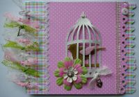 *pretty in pink* OOAK Handmade Journal Scrapbook Photo Album