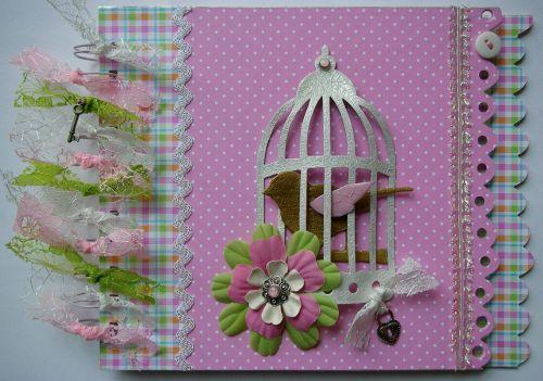 *pretty in pink* OOAK Handmade Journal Scrapbook Photo Album