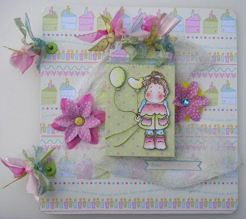 *have your cake & eat it too* OOAK Handmade Birthday Girl Photo Album