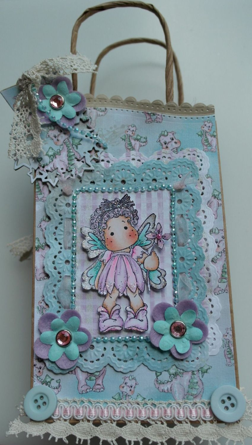 *fairy magic* OOAK Handmade Fantasy Scrapbook Dragon Fairy Book in a Bag