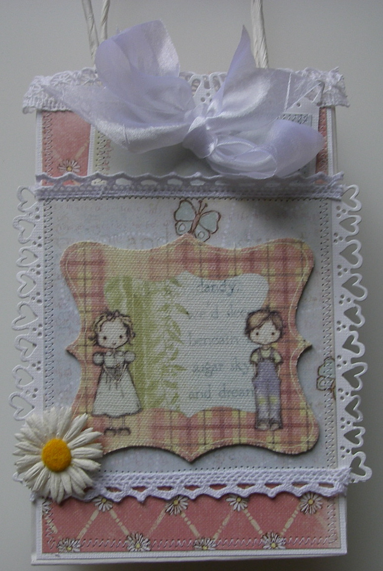 *beneath a sugar sky* OOAK Girls/Friendship Scrapbook Book in a Bag