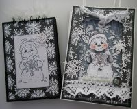 *O Frosty the Snowman* OOAK Handmade Winter/Christmas Book in a Bag