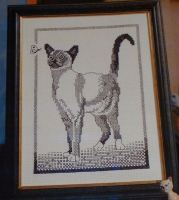 Blackwork Cat ~ Cross Stitch Embroidery Chart