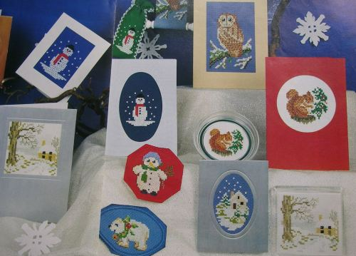 Snowy Christmas Cards ~ Seven Cross Stitch Charts