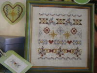 Sparkling Metallic Christmas Sampler ~ Cross Stitch Chart