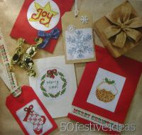 50 Quick Stitch Christmas Cards ~ Cross Stitch Charts