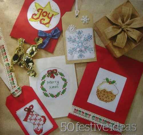 Quick Easy Christmas Cards Tags Cross Stitch Charts Patterns