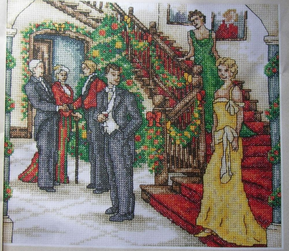 1920's High Society Family Christmas ~ Cross Stitch Chart