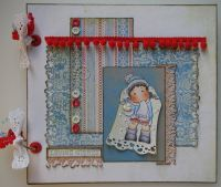 *loving wishes* OOAK Handmade Valentine/Anniversary Photo Memory Album
