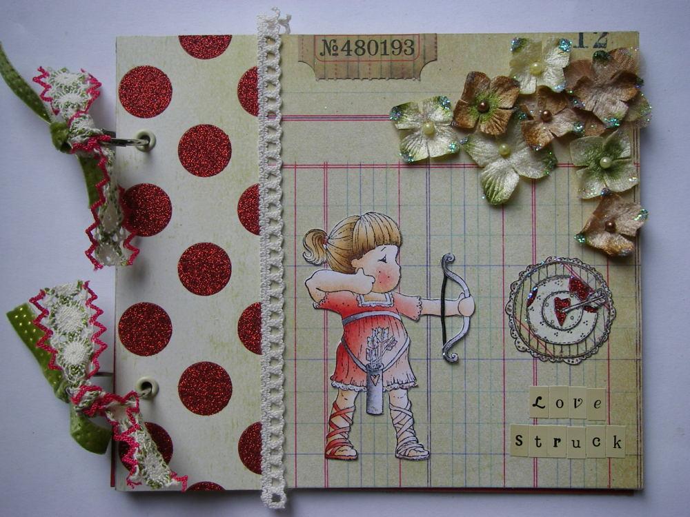 *love struck* OOAK Handmade Valentine/Anniversary Scrapbook Photo Memory Al