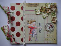 *love struck* OOAK Handmade Valentine/Anniversary Scrapbook Photo Memory Album