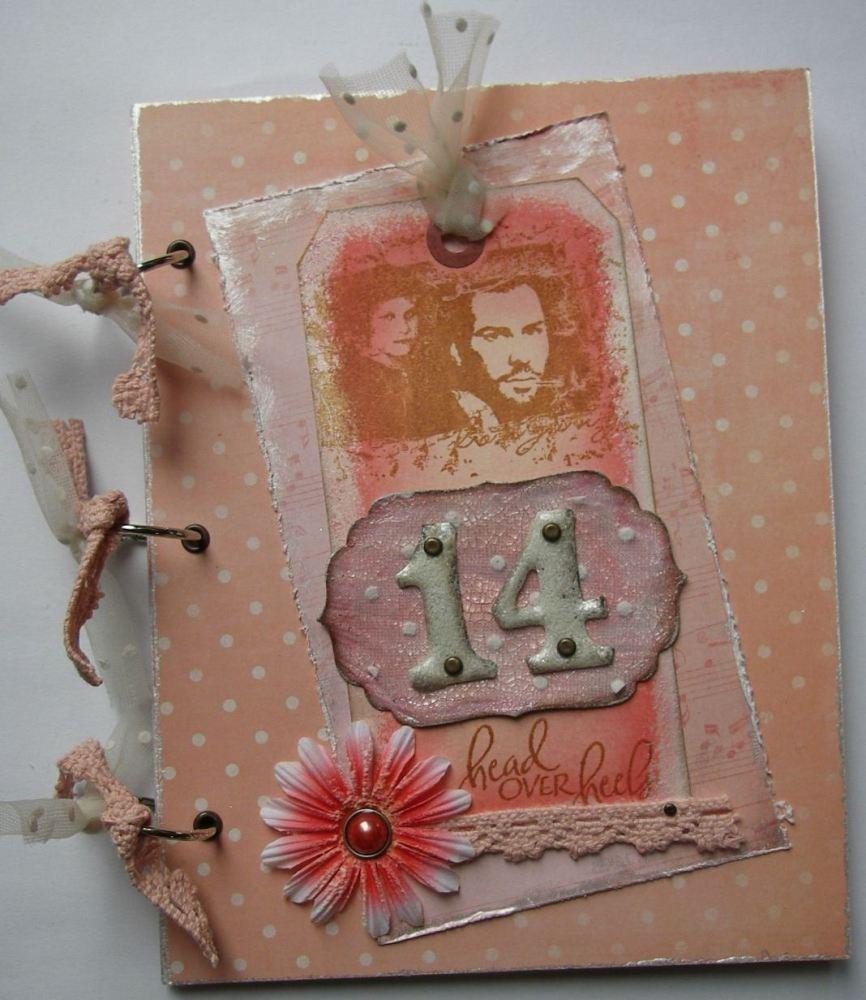 *head over heels* OOAK Handmade Valentine/14th Anniversary Photo Album