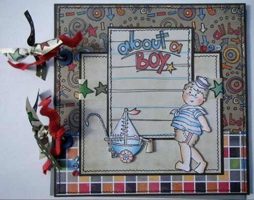 *about a boy* OOAK Handmade Boy's Summer/Holiday Scrapbook Photo Album