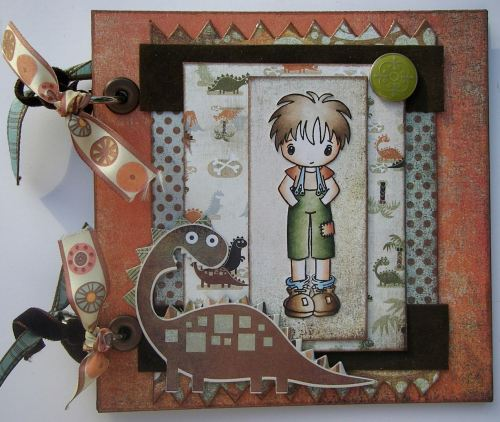 *dinosaur boy* Handmade Scrapbook Photo Album