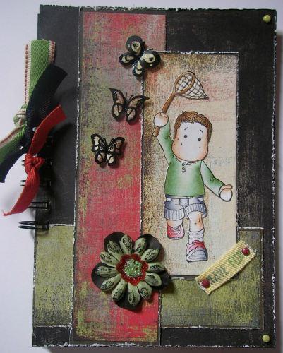 *chasing butterflies* Boys Handmade Scrapbook