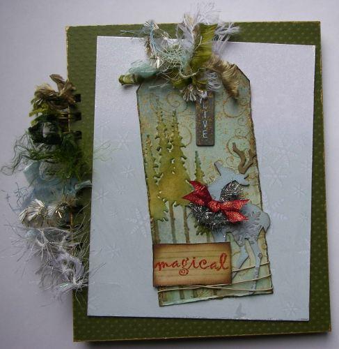 *magical* OOAK Handmade Winter/Christmas Scrapbook Photo Memory Album Journ