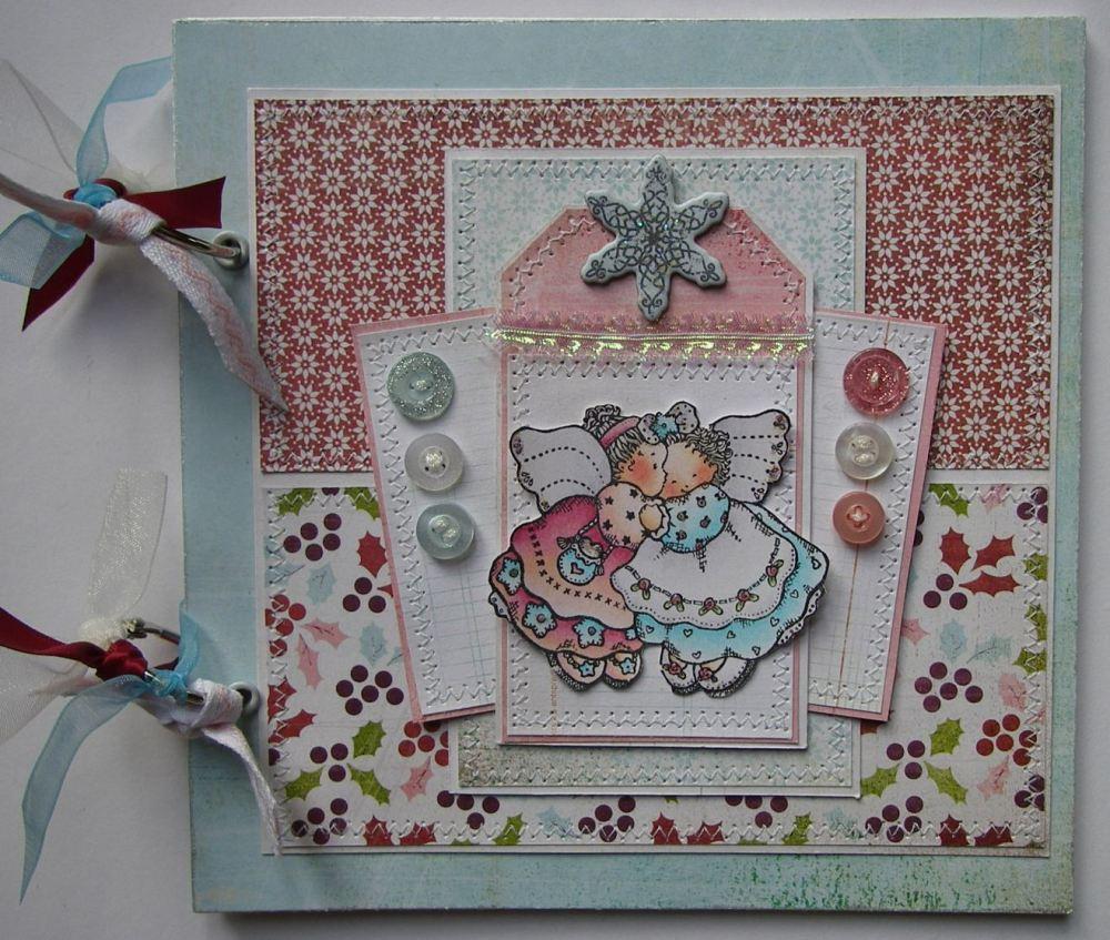 *angels* OOAK Handmade Christmas Scrapbook Photo Memory Album