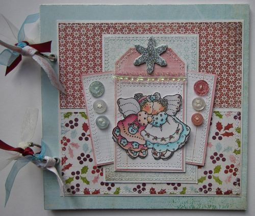 *angels* OOAK Handmade Christmas Scrapbook Photo Memory Album