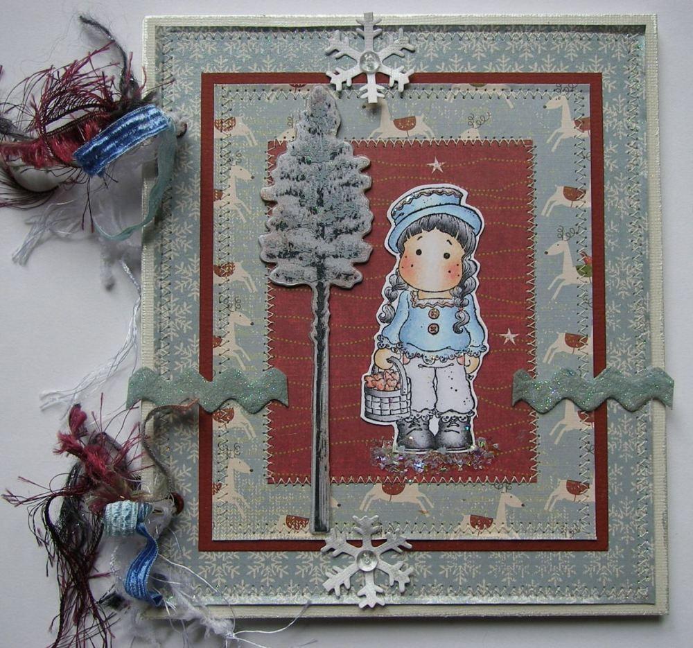 *walking in a winter wonderland* OOAK Handmade Scrapbook Memory Album