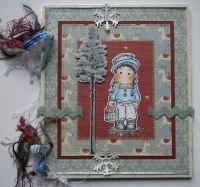*walking in a winter wonderland* OOAK Handmade Scrapbook Memory Album