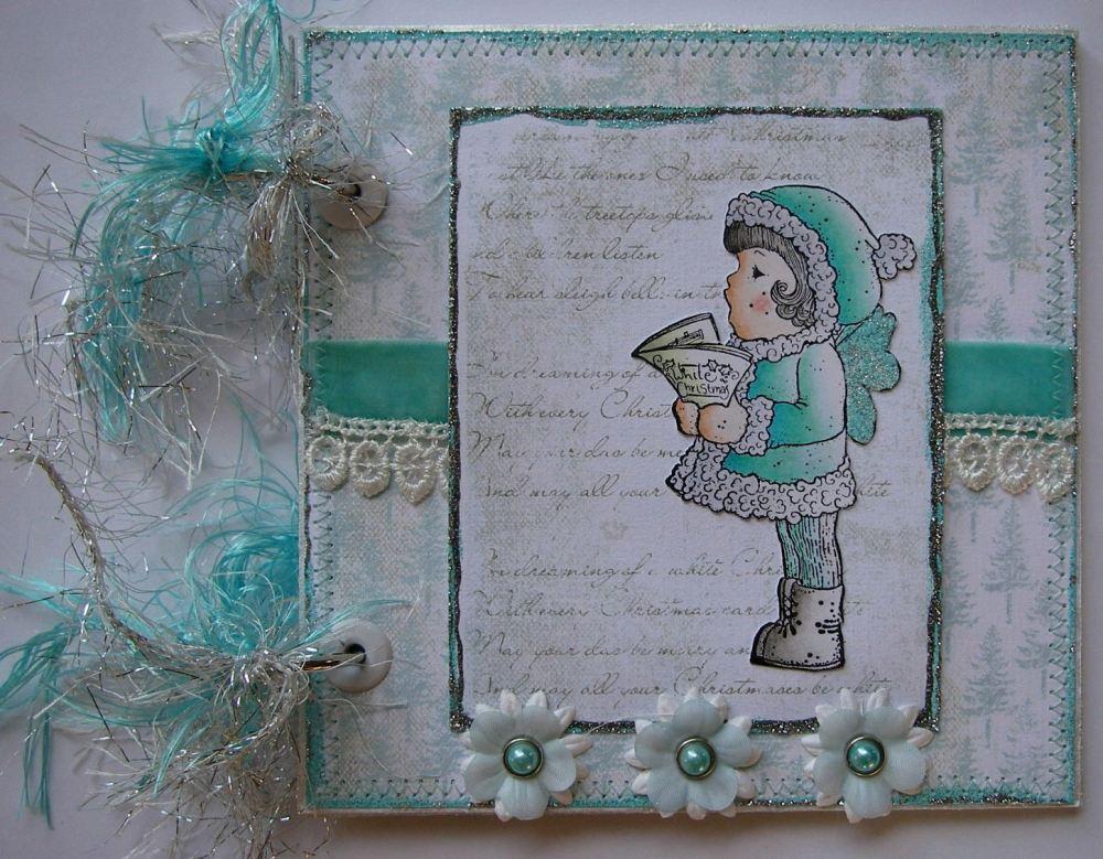 *dreamin' of a white Christmas* OOAK Handmade Scrapbook Photo Album