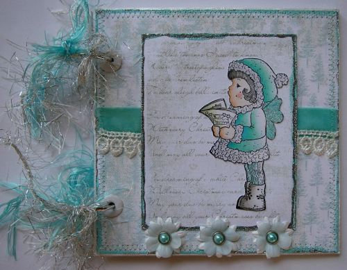*dreamin' of a white Christmas* OOAK Handmade Scrapbook Photo Album