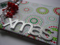 Red, white & green *xmas* Scrapbook Photo Album Notebook Planner