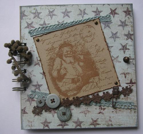 *a vintage Christmas* OOAK Handmade Scrapbook Album