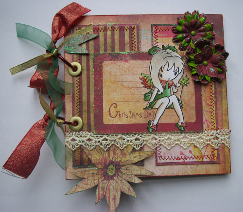 *Christmas day fairy* OOAK Handmade Scrapbook Photo Album