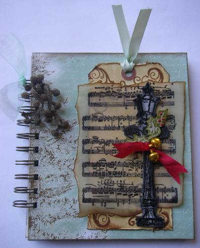 *festive music lampost* OOAK Handmade Festive Christmas/Winter Album