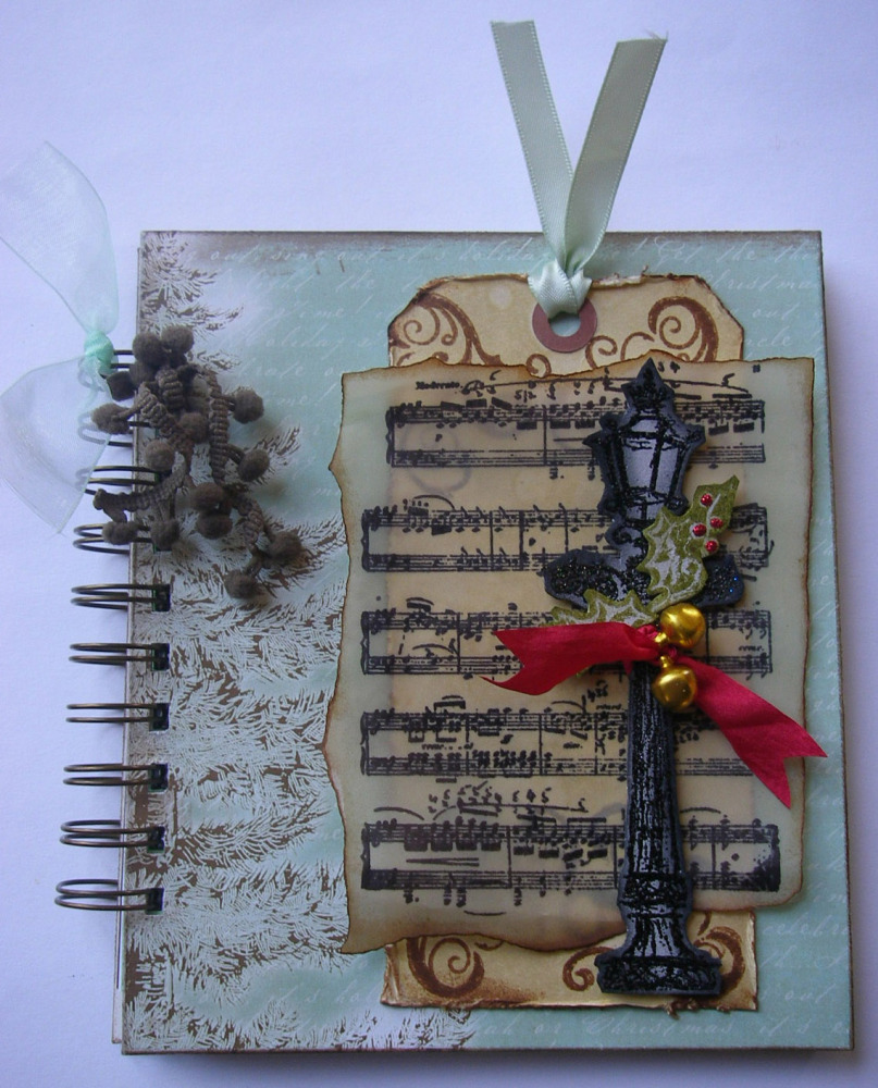 *festive music lampost* OOAK Handmade Festive Christmas/Winter Album