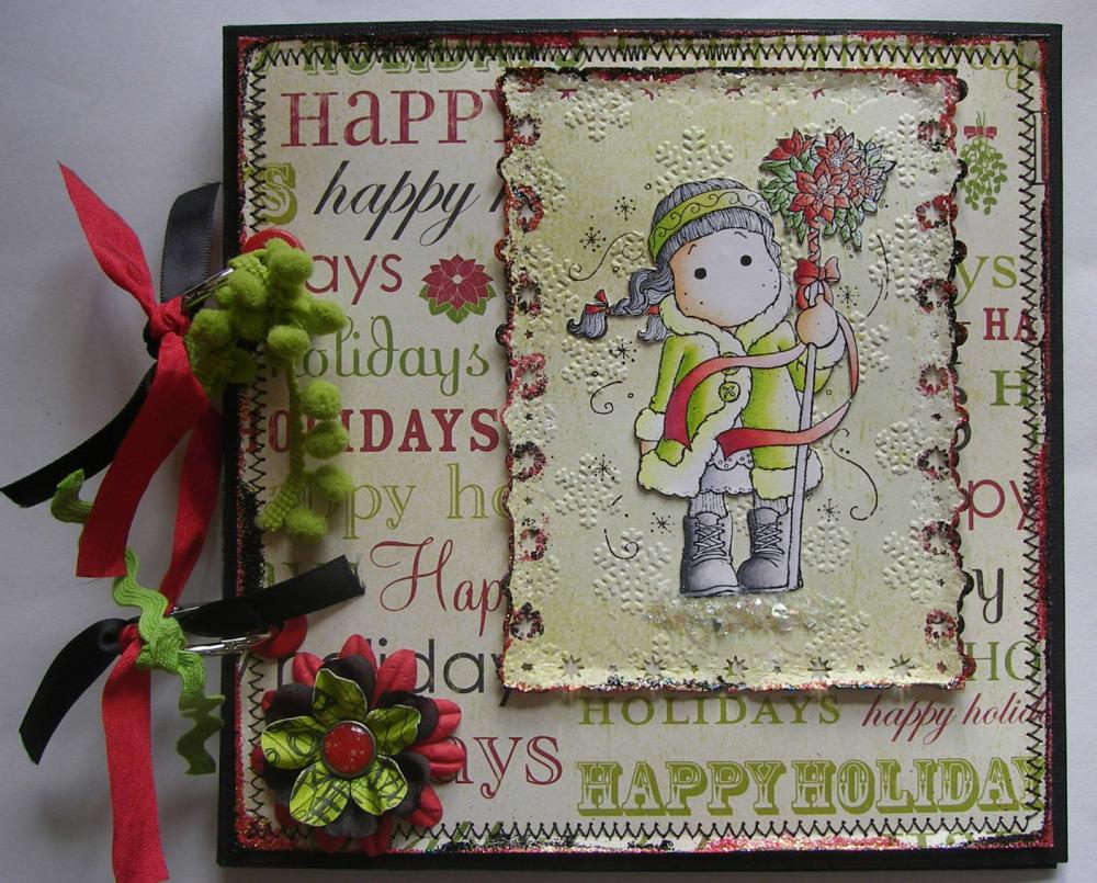 *happy holidays* OOAK Handmade Christmas Scrapbook Photo Album