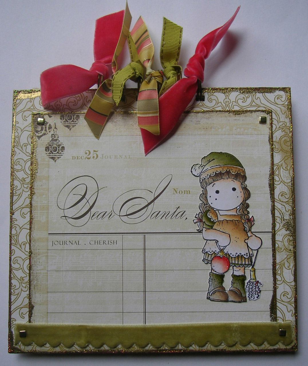 *dear santa* OOAK Handmade December 25 Journal Photo Album