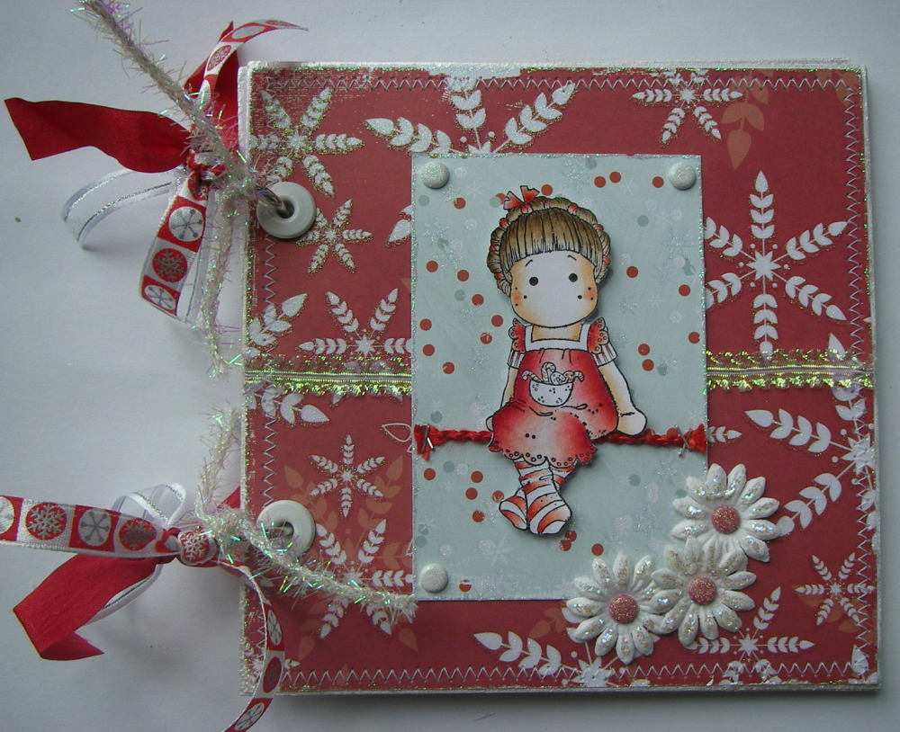 *snowflakes & candy canes* OOAK Handmade Christmas Scrapbook Album