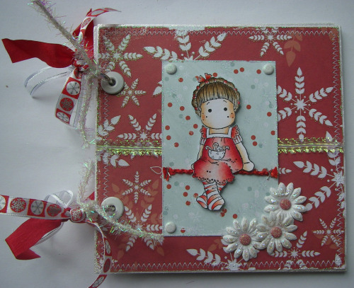 *snowflakes & candy canes* OOAK Handmade Christmas Scrapbook Album