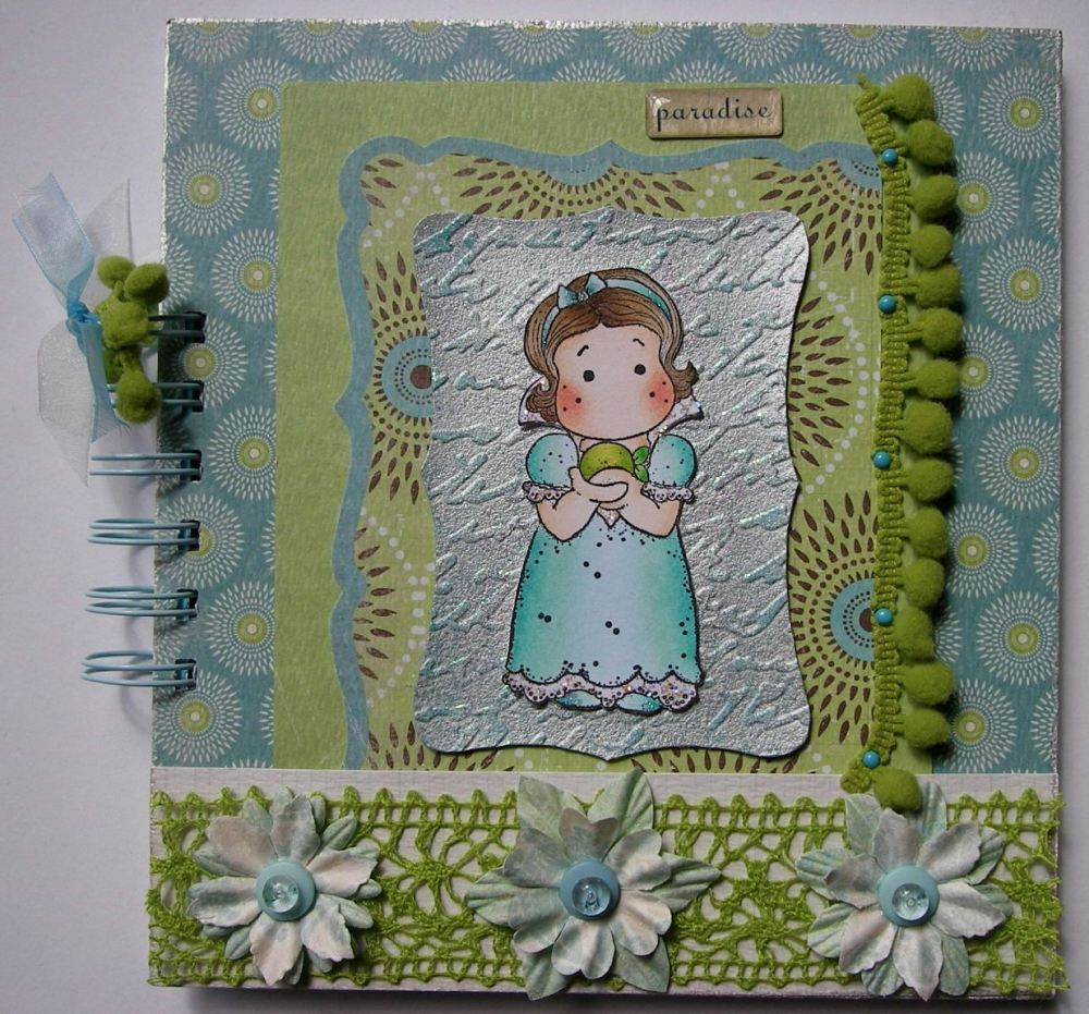 *paradise* OOAK Handmade Garden/Girl Themed Journal Album